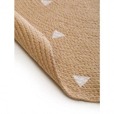 """Benuta kilimas iš džiuto ,,Pippa cream: triangles"""""""