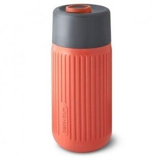 "Black and Blum stiklinė gertuvė ,, Glass travel cup: coral"" (340 ml)"