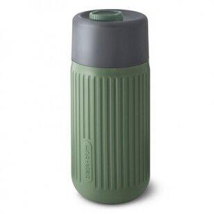 "Black and Blum stiklinė gertuvė ,,Glass travel cup: olive"" (340 ml)"