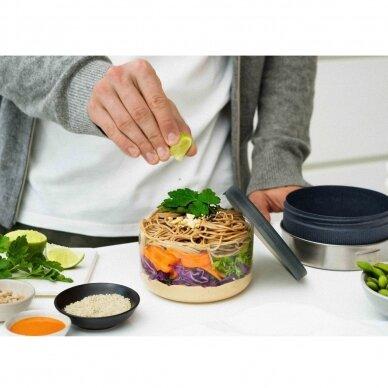 """Black+Blum maisto indelis iš stiklo su apsauga ,,Glass lunch bowl"""" 3"""