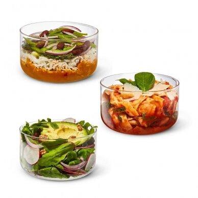 """Black+Blum maisto indelis iš stiklo su apsauga ,,Glass lunch bowl"""" 4"""