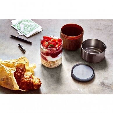 """Black+Blum maisto indelis iš stiklo su apsauga ,,Glass lunch pot"""" 4"""