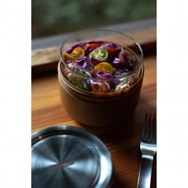 "Black+Blum maisto indelis iš stiklo su apsauga ,,Glass lunch pot, large"" 4"
