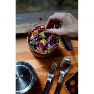 "Black+Blum maisto indelis iš stiklo su apsauga ,,Glass lunch pot, large"" 3"