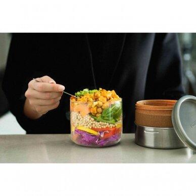 "Black+Blum maisto indelis iš stiklo su apsauga ,,Glass lunch pot, large"" 5"