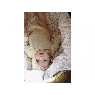 """Born Copenhagen patalynės užvalkalai kūdikiui ,,Leaves"""" (70x100 cm) 3"""