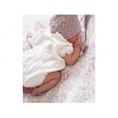 """Born Copenhagen patalynės užvalkalai kūdikiui ,,Leaves"""" (70x100 cm) 5"""