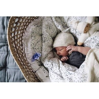 "Born Copenhagen patalynės užvalkalai kūdikiui ,,Midnight dust"" (70x100 cm) 3"