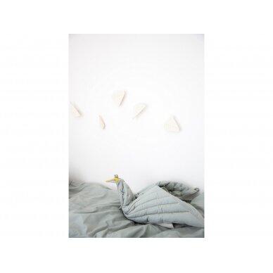 """Fabelab pledas ,,Dreamy bird"""" (foggy blue) 4"""