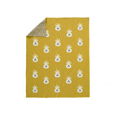 "Fresk megztas pledas ,,Pineapple"" (100x150 cm)"