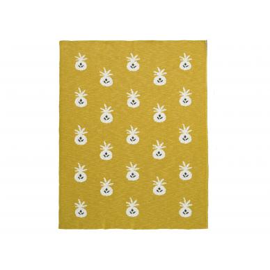 "Fresk megztas pledas ,,Pineapple"" (100x150 cm) 2"