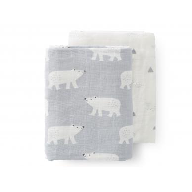 """Fresk vystyklų rinkinys ,,Polar bear"""" (2 vnt., 120x120 cm)"""