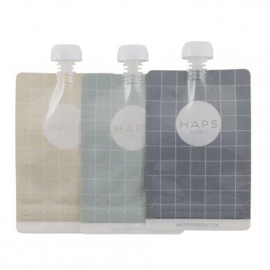 """Haps Nordic daugkartiniai maišeliai skysčiams ,,Cold"""" (3x190 ml)"""