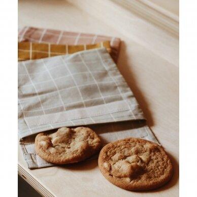 """Haps Nordic daugkartinis sumuštinių maišelis ,,Oyster grey check"""" 3"""