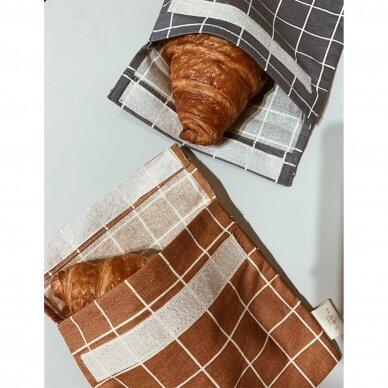 """Haps Nordic daugkartinis sumuštinių maišelis ,,Terracotta check"""" 4"""