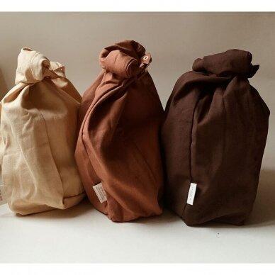 """Haps Nordic drobinis priešpiečių maišelis ,,Mustard"""" 3"""