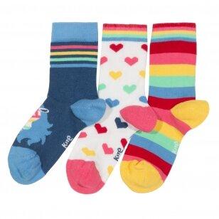 """Kite kojinių rinkinys ,,Rainbow zebra"""" (3 poros)"""