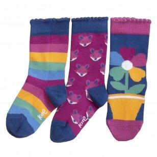 """Kite kojinių rinkinys ,,Rainbow flower"""""""