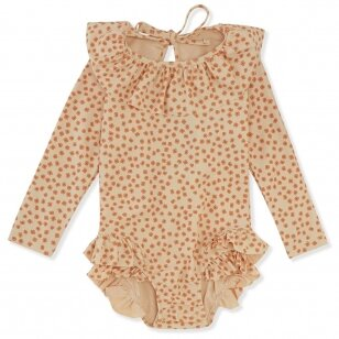 "Konges Slojd maudymosi kostiumėlis ilgomis rankovėmis su UPV50+ filtru ,,Buttercup orange"""