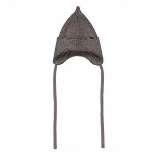"""Mainio kepurė iš merino vilnos su raišteliais ,,Bark"""""""
