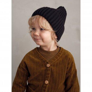 """Mainio kepurė iš merino vilnos ,,Ebony"""" 3"""