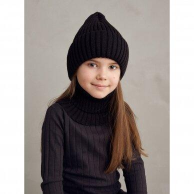"""Mainio kepurė iš merino vilnos ,,Ebony"""" 2"""