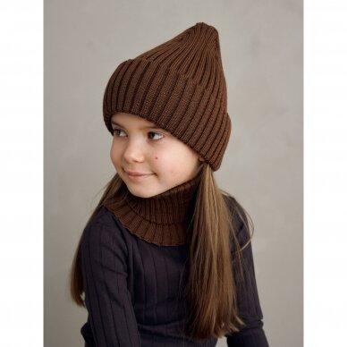 """Mainio kepurė iš merino vilnos ,,Walnut"""" 2"""