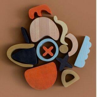 Min Min Copenhagen medinė dėlionė ,,Abstract art'