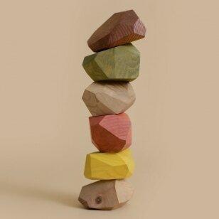 "MinMin Copenhagen medinės kaladėlės ,,Earthy stones"""