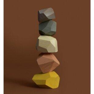 """MinMin Copenhagen medinės kaladėlės ,,Pastel stones"""""""