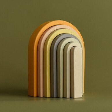 "Min Min Copenhagen medinė dėlionė ,,Pastel rainbow"" 13"