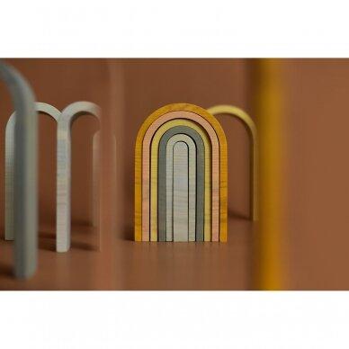 "Min Min Copenhagen medinė dėlionė ,,Pastel rainbow"" 7"
