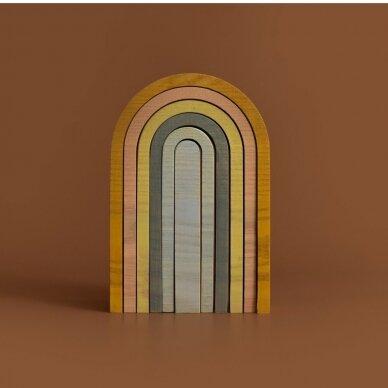"Min Min Copenhagen medinė dėlionė ,,Pastel rainbow"" 8"