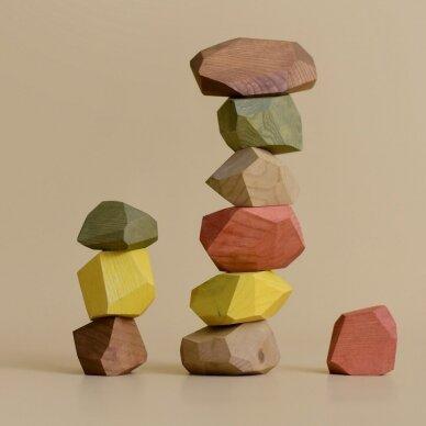 "MinMin Copenhagen medinės kaladėlės ,,Earthy stones"" 2"