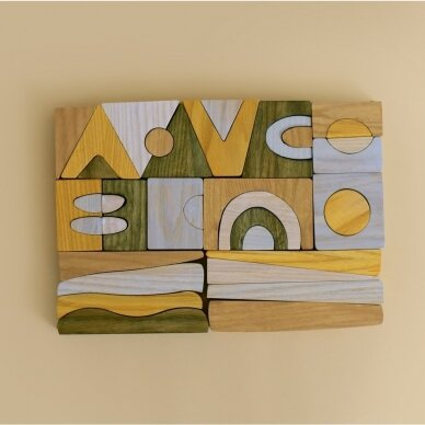 "MinMin Copenhagen medinė dėlionė ,,Puzzle game earthy"""