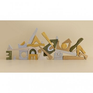 "MinMin Copenhagen medinė dėlionė ,,Puzzle game earthy"" 3"