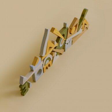 "MinMin Copenhagen medinė dėlionė ,,Puzzle game earthy"" 5"