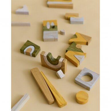 "MinMin Copenhagen medinė dėlionė ,,Puzzle game earthy"" 2"