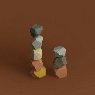 """MinMin Copenhagen medinės kaladėlės ,,Pastel stones"""" 2"""