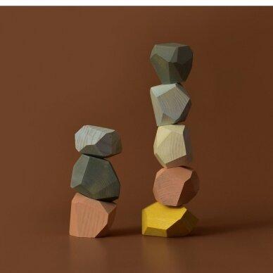 """MinMin Copenhagen medinės kaladėlės ,,Pastel stones"""" 3"""