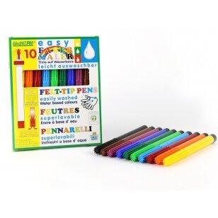ökoNORM lengvai plaunami flomasteriai (10 spalvų)