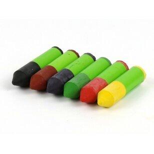 ökoNORM spalvotos vaško kreidėlės (6 spalvos)