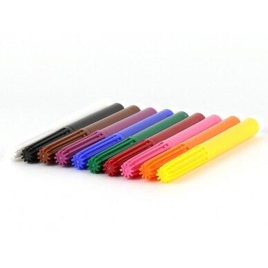 ökoNORM flomasteriai+spalvas trinantis žymeklis (9 spalvos)