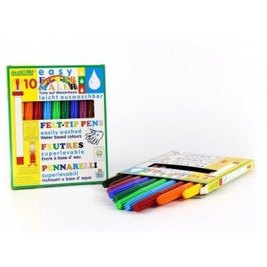 ökoNORM lengvai plaunami flomasteriai (10 spalvų) 2