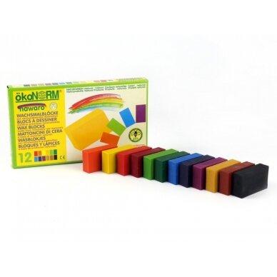 ökoNORM spalvoti vaško blokeliai (12 spalvų) 2