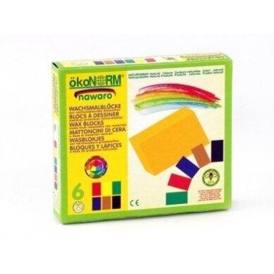 ökoNORM spalvoti vaško blokeliai (6 spalvos) 3