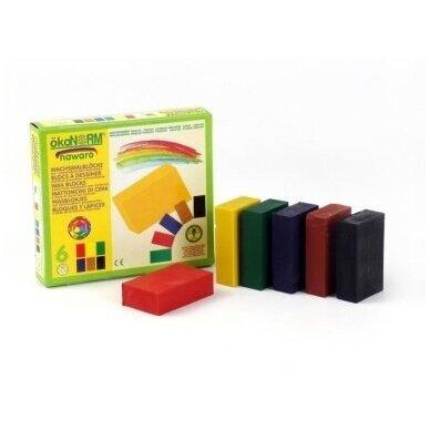 ökoNORM spalvoti vaško blokeliai (6 spalvos) 2