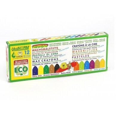 ökoNORM spalvotos bičių vaško kreidelės (12 spalvų) 2