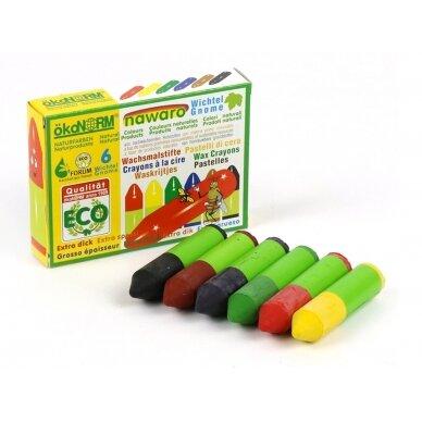 ökoNORM spalvotos vaško kreidėlės (6 spalvos) 2