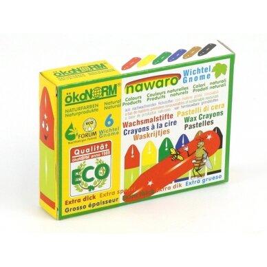ökoNORM spalvotos vaško kreidėlės (6 spalvos) 3